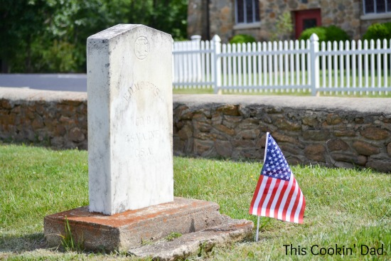 Memorial Day Headstone and Church