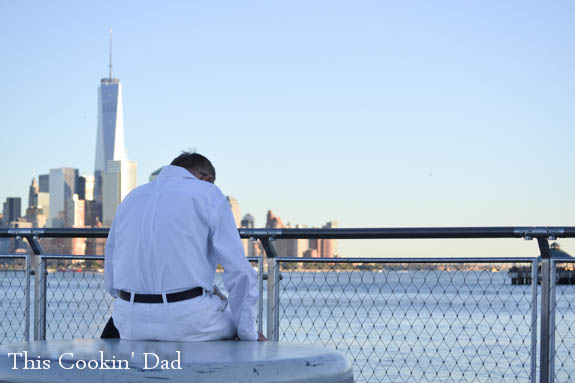 New York Skyline with Man