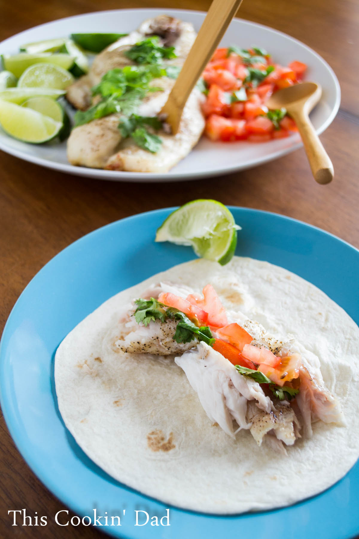 Charcoal Grilled Fish Tacos