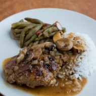 Turkey Salisbury Steak with Mushroom Gravy