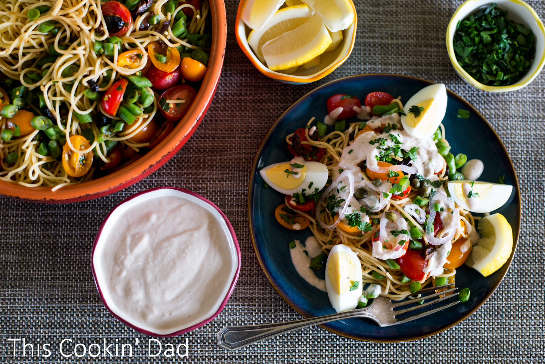 Nicoise Pasta Salad with Low-Fat Tonnato Dressing-3