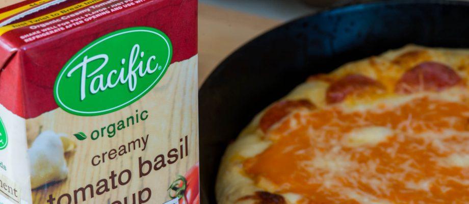 Pan Pizza with Creamy Tomato Basil Soup
